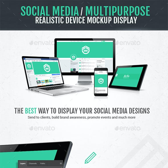 Social Media / Multipurpose Mockup Device Display