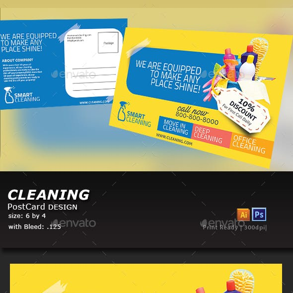 Cleaning Postcard