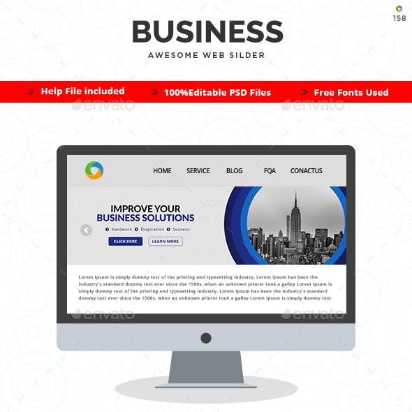 Business Slider Design