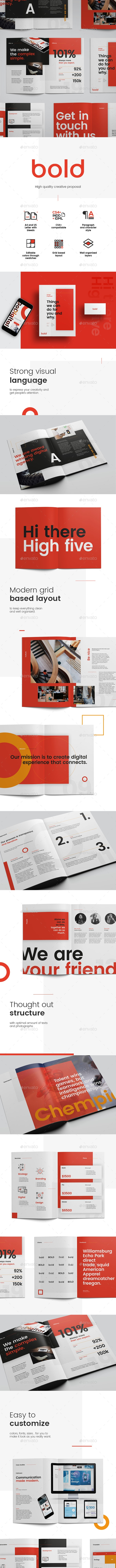 Bold Design Proposal - Proposals & Invoices Stationery