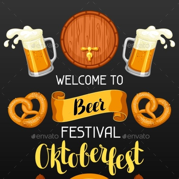 Oktoberfest. Welcome To Beer Festival. Invitation