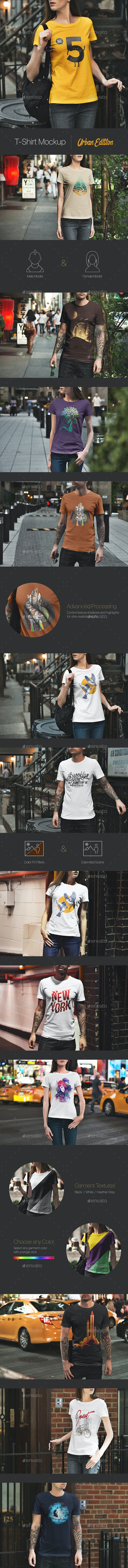 T-Shirt Mockup / Urban Edition - T-shirts Apparel