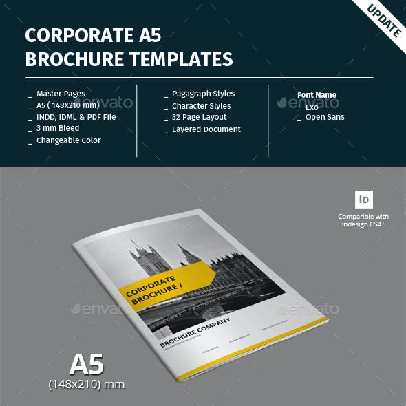 Corporate A5 Brochure Template