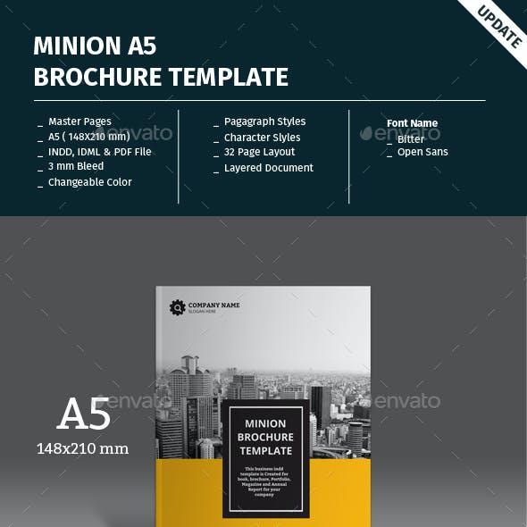 Minion A5 Portrait Brochure Template