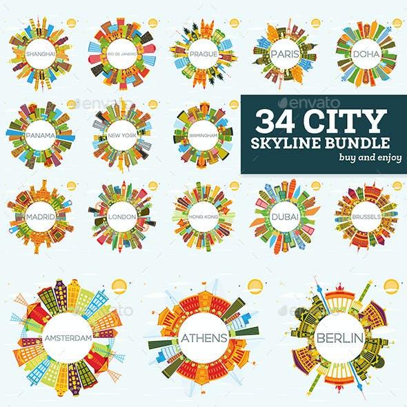 34 City Skyline Set