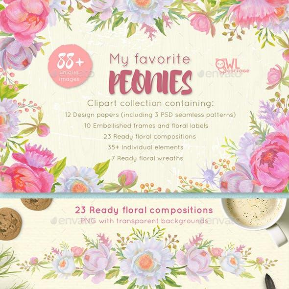 Floral Design Pack (Watercolor & Pastel)
