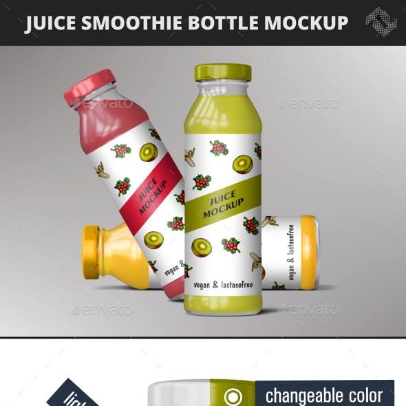 Juice Bottle Smoothie Mockup