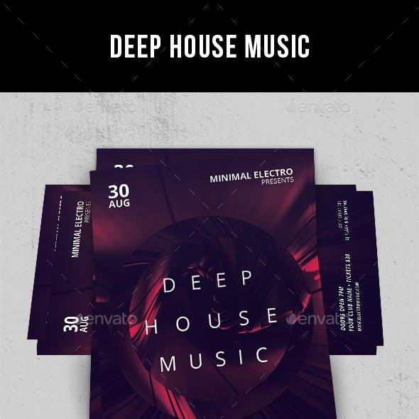 Deep House Music - Flyer