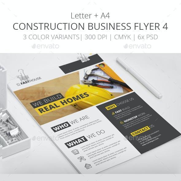 Construction Business Flyer 4 - Letter + A4