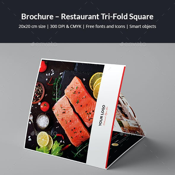 Brochure – Restaurant Tri-Fold Square