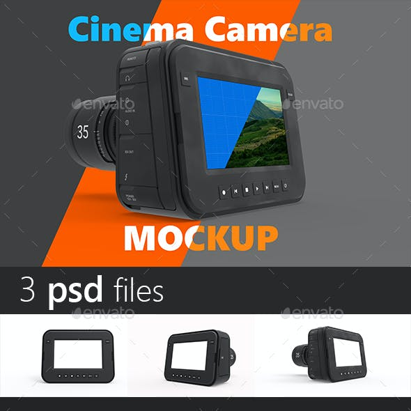 Magic Cinema Camera Mockup
