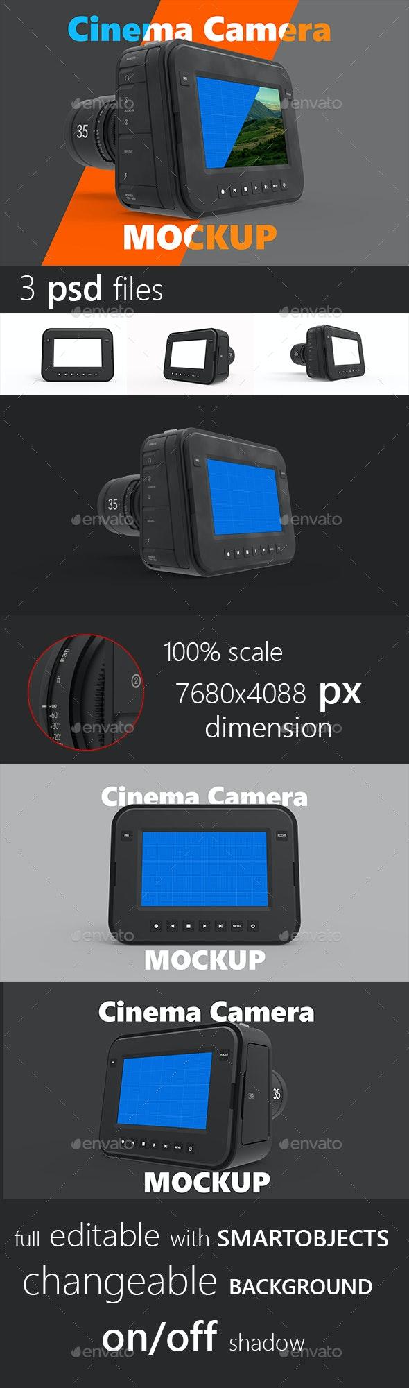 Magic Cinema Camera Mockup - Miscellaneous Displays