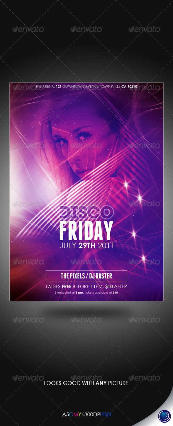 Space Stars Party Flyer Template - Clubs & Parties Events