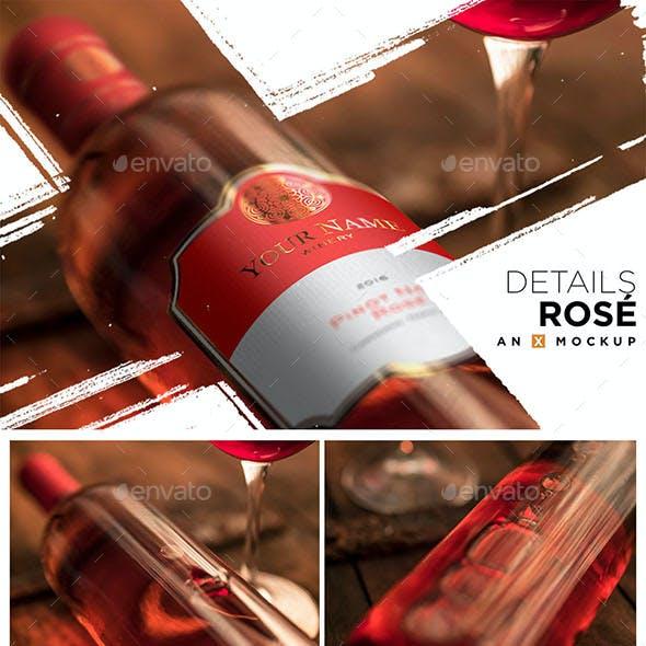 Details Wine Mockup - Bordeaux Rosé