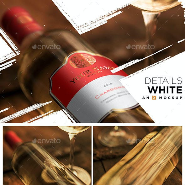 Details Wine Mockup - Bordeaux White