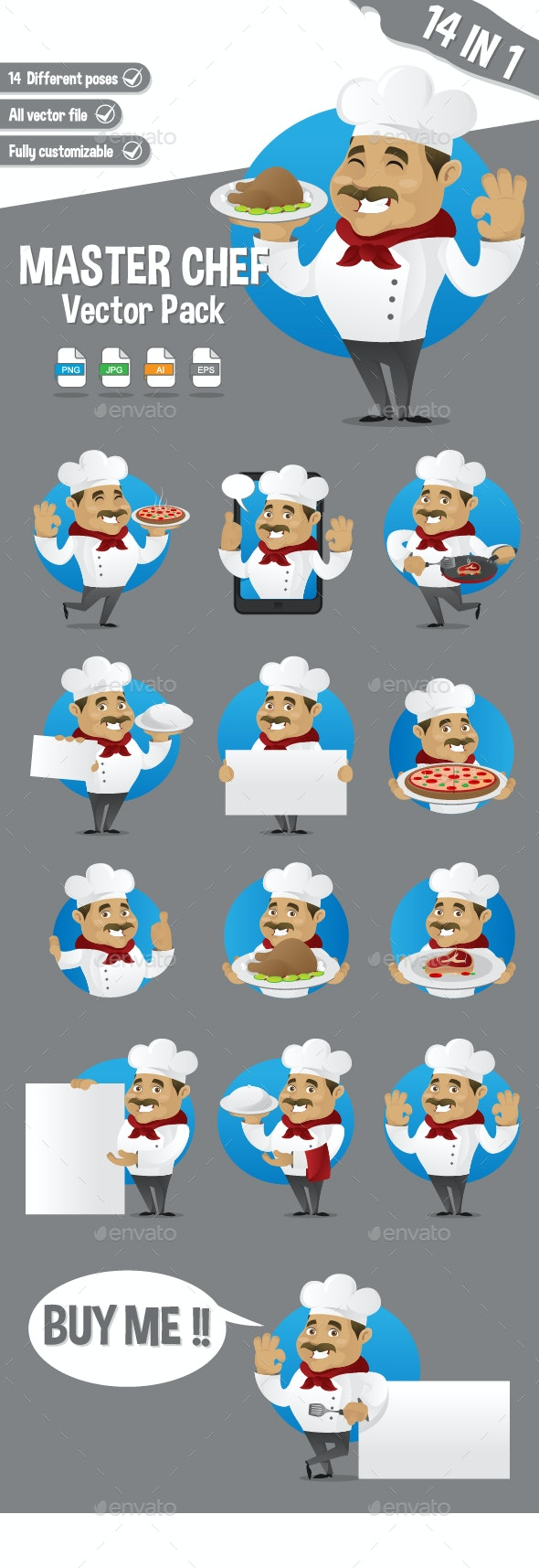 Chef Vector Pack - People Characters