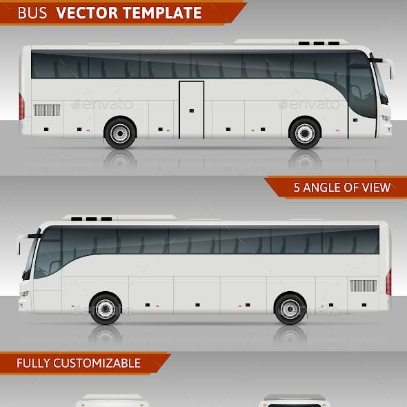 Coach Bus Vector Template