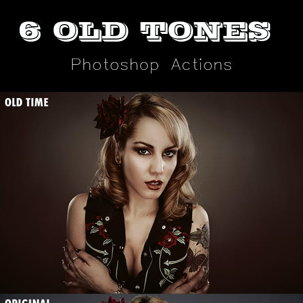 6 Old Tones PS Actions