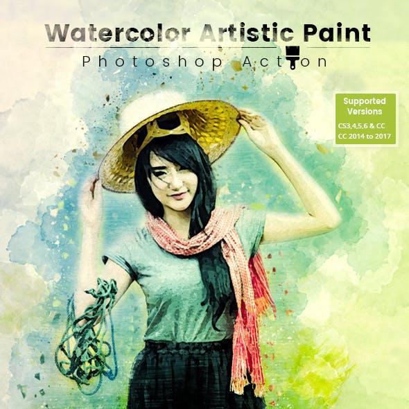 Watercolor Artistic Paint Action