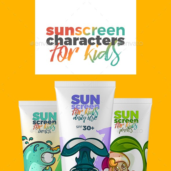 Sunscreen Characters