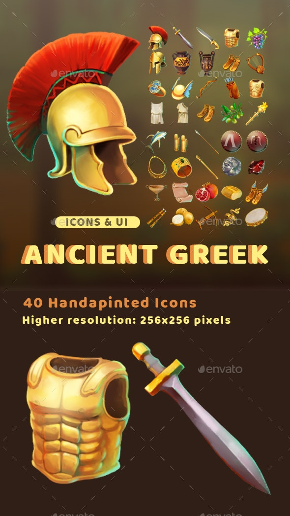 Ancient Greek Icons - Miscellaneous Game Assets