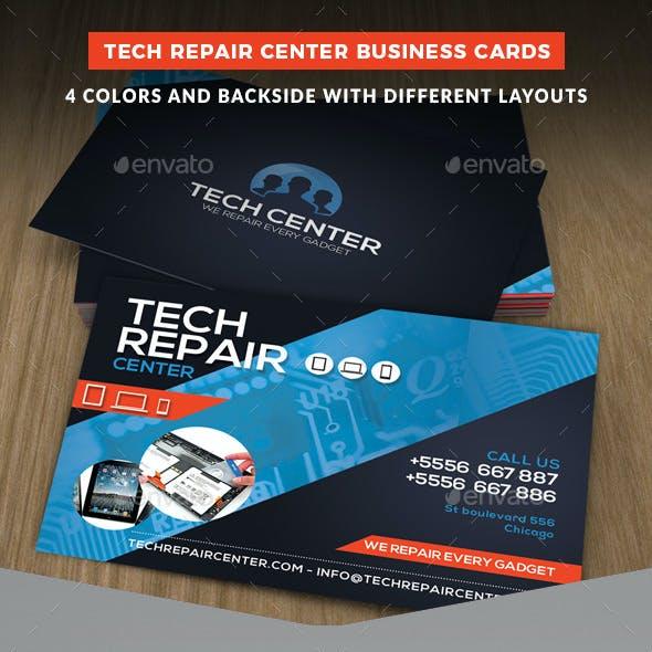 Tech Repair Center Business Cards Template