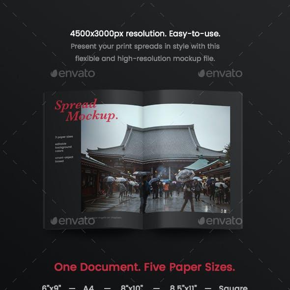 Magazine/Booklet Page Spread Mockup