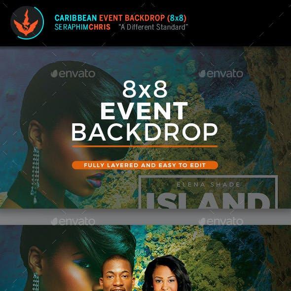 Caribbean 8x8 Backdrop Template