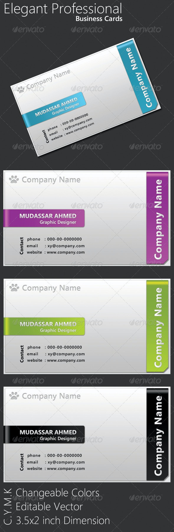 Elegant Professional Business Cards - Corporate Business Cards