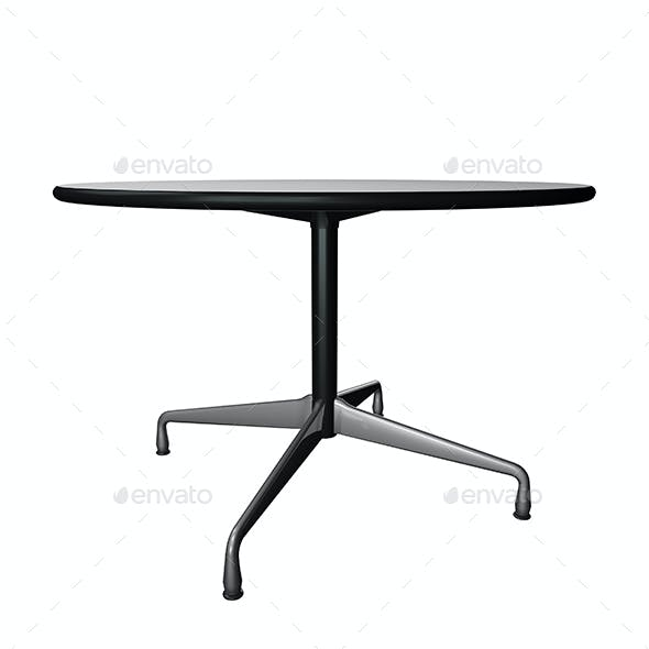 3D Vitra Eames Table - 4 Renders