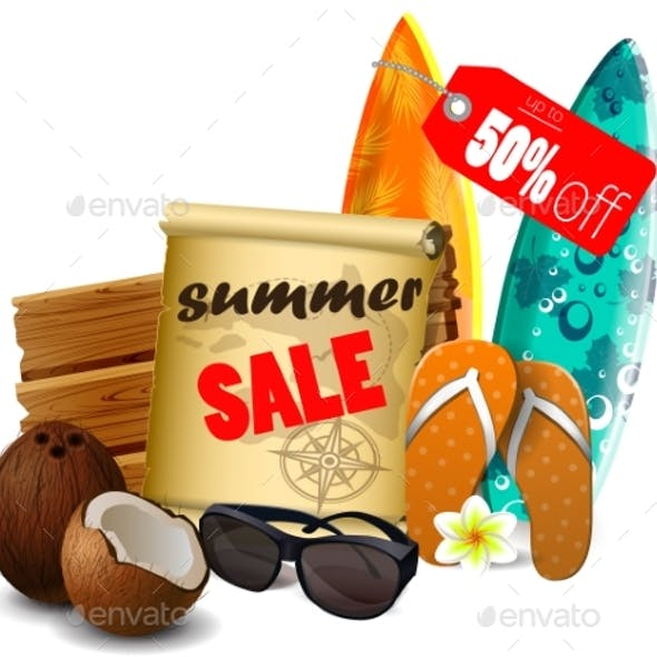 Summer Sale Banner Online Shopping