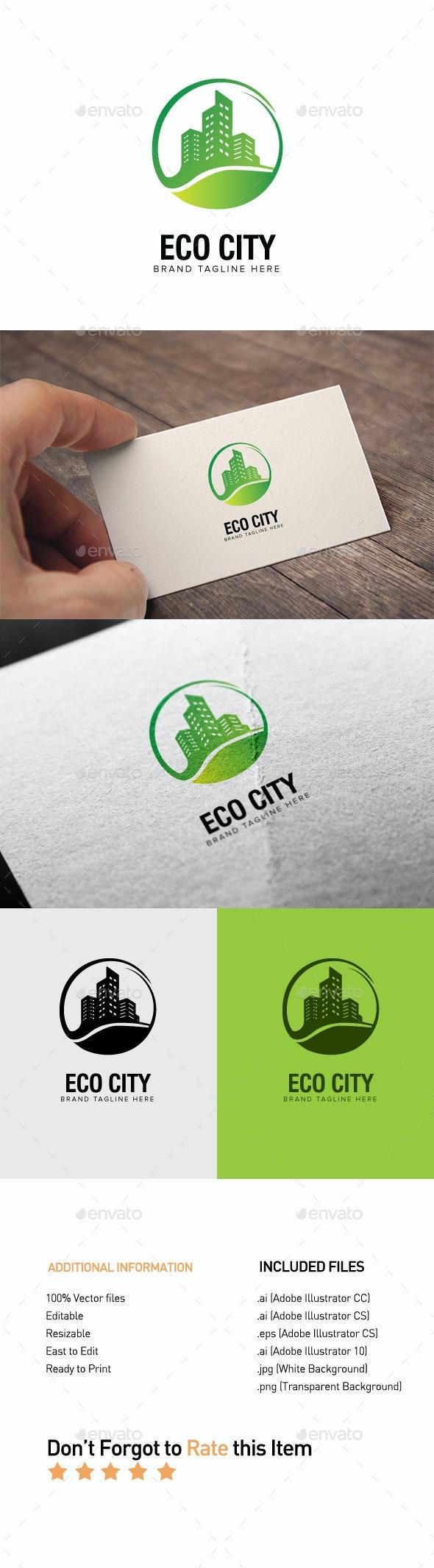Eco City Logo - Buildings Logo Templates