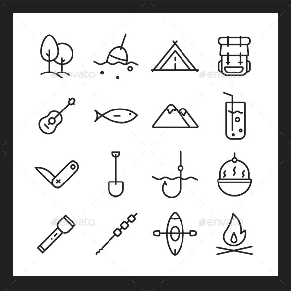 Camping Icons Pack