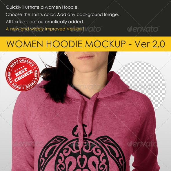 Professional Women Hoodie Mock Up
