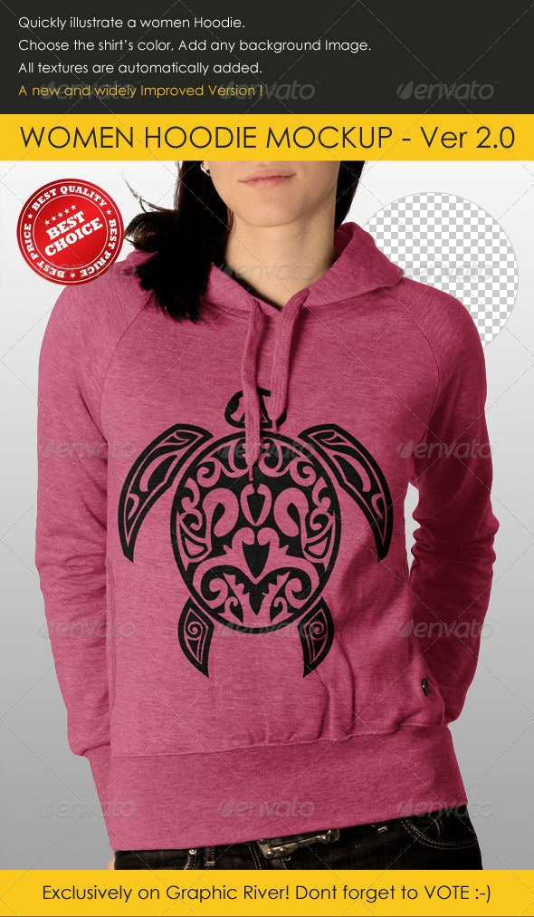 Professional Women Hoodie Mock Up - Miscellaneous Apparel
