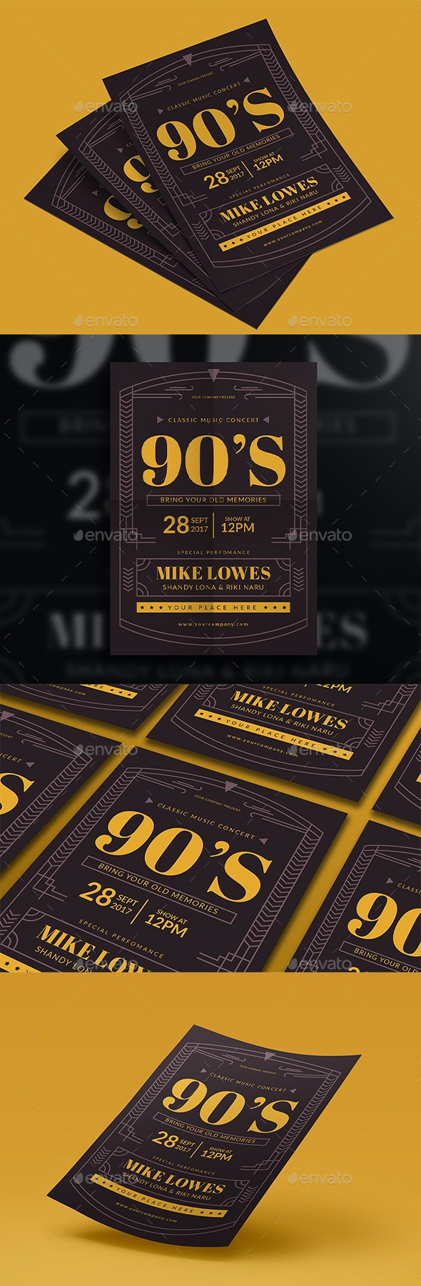 90's Music Flyer - Events Flyers