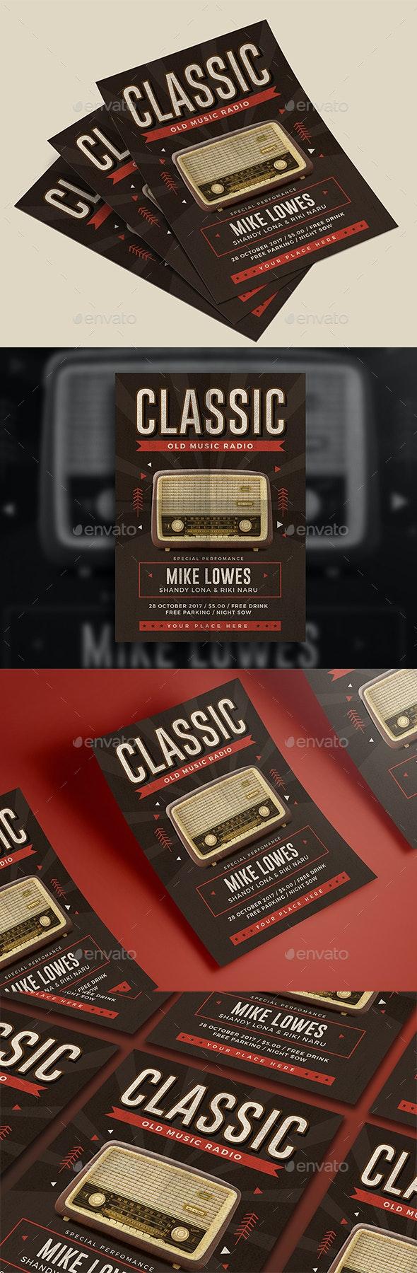 Classic Radio Flyer - Events Flyers