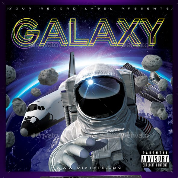 Galaxy Space CD Cover Template