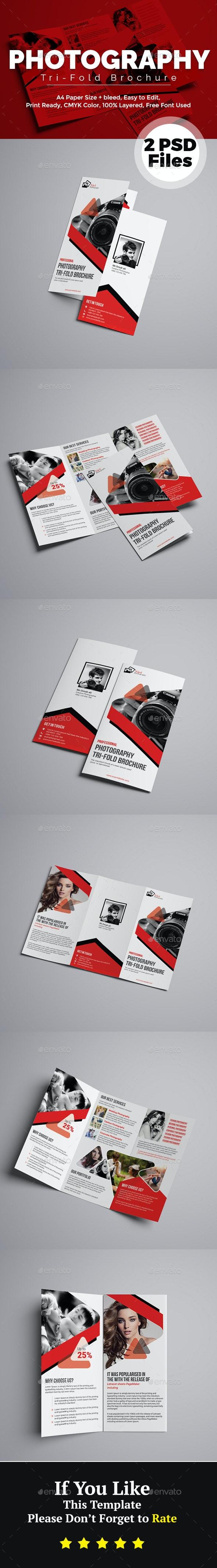 Photography Tri-Fold Brochure - Brochures Print Templates