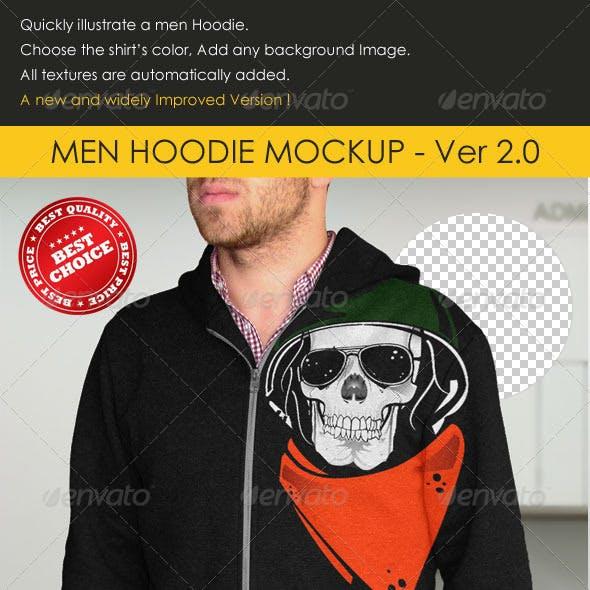 Professional Men Hoodie Mock-up