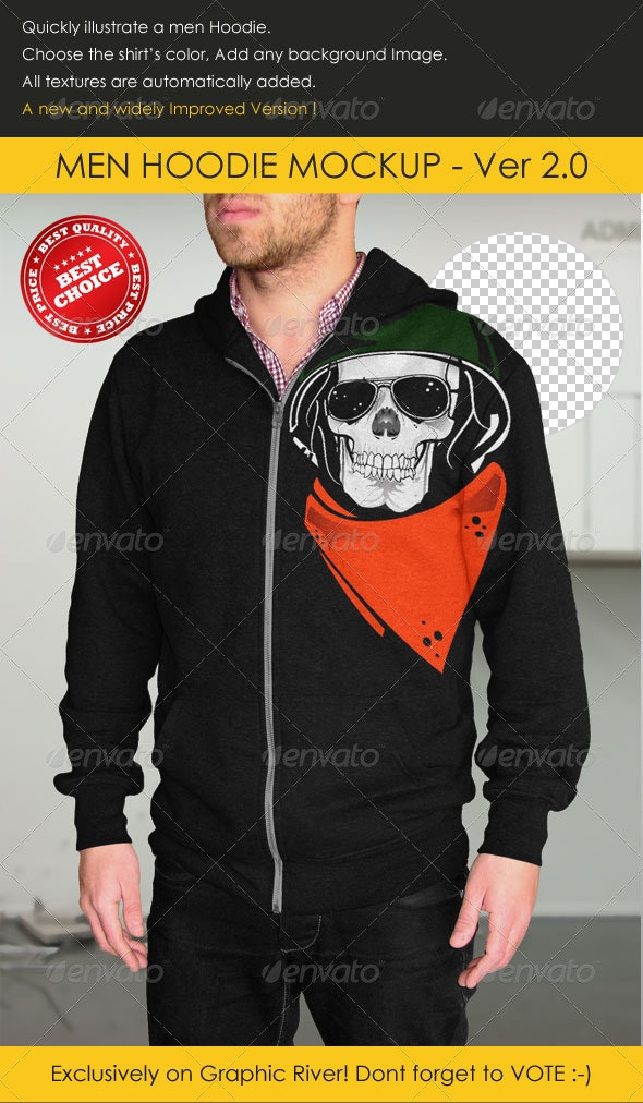 Professional Men Hoodie Mock-up - Miscellaneous Apparel