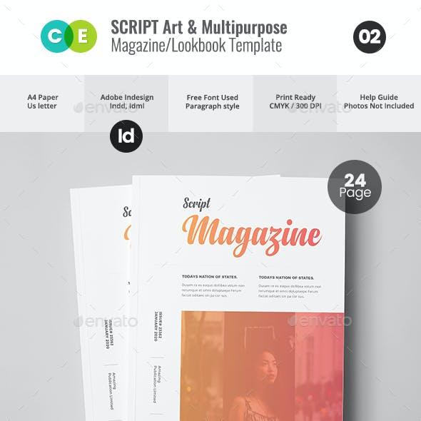 SCRIPT   The Magazine Lookbook V02