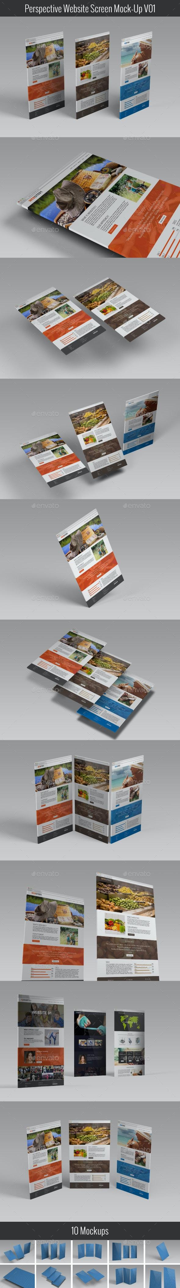 Perspective Website Screen Mock-Up V01 - Website Displays