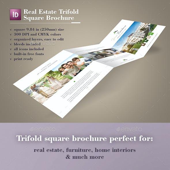 Real Estate Trifold Square Brochure