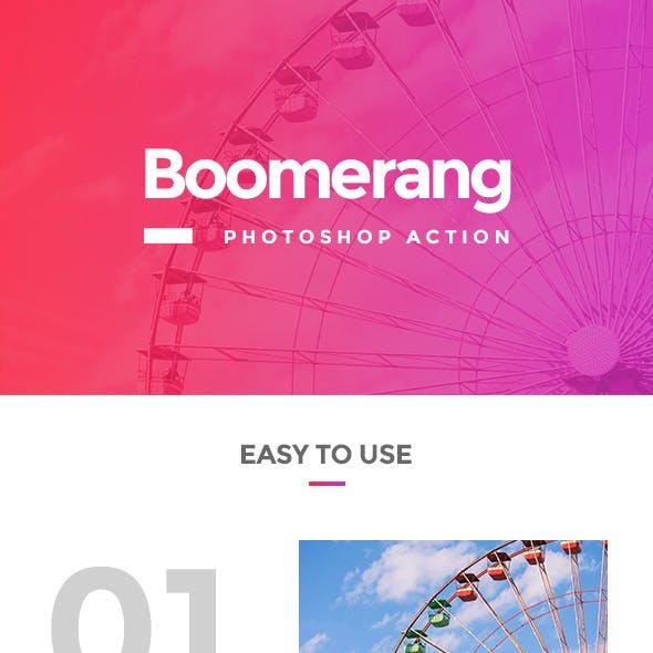 Boomerang Photoshop Action