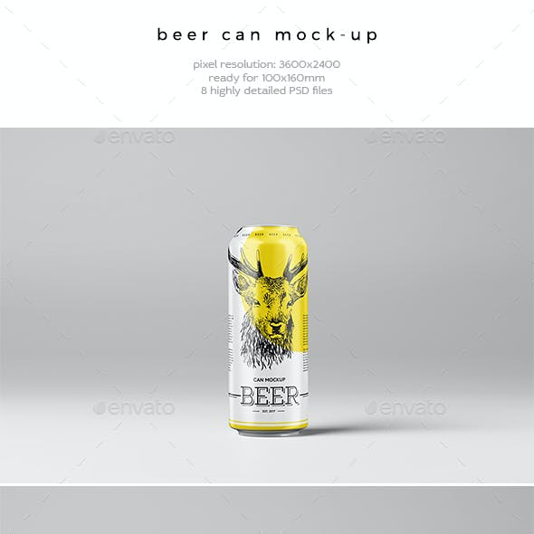 Beer Can Mock-Up