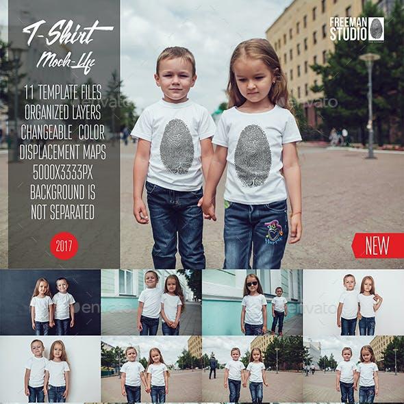 Kids T-Shirt Mock-Up Vol.7 2017