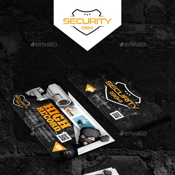 Security System Business Card Templates