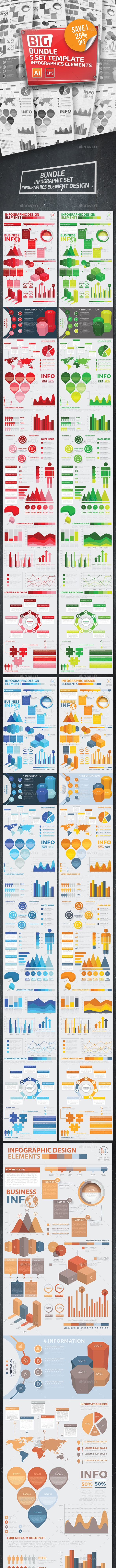 Bundle 5 Infographic Templates - Infographics