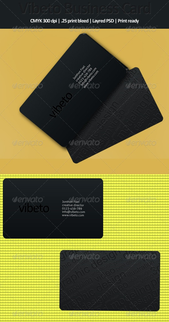 Vibeto Business Card - Corporate Business Cards